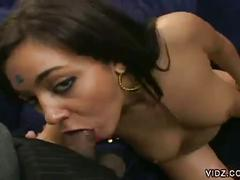 Busty brunette indian karishna gets a black and white cock