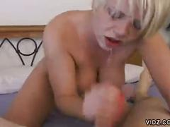 Young blonde babe gets pumped up in hot pov pounding session