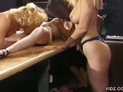 Lesbian threesome with hot pussy licking