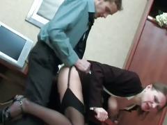 Milf caught masturbating sucks cock and gets nailed