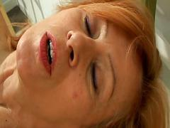 Mature lesbian schoolteacher does one of her students