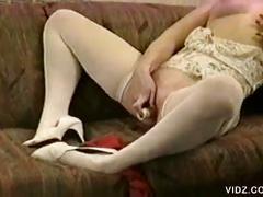 blonde, masturbation, pussy, solo, toys, dildo, masturbating, platinum blonde, shaved pussy