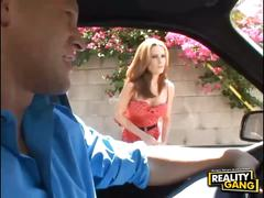 Ginger lea pounded non-stop in the car to the house