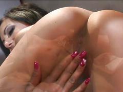 Pussy loving lesbian sluts sizzling hot prison threesome fuck