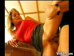 Blonde bitch loves getting rough sex
