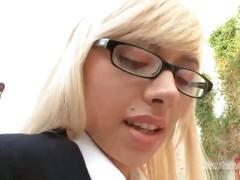 Big cock drills sweet schoolgirl pussy on pov
