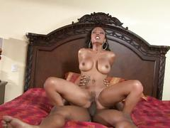 Chocolate milf gets hammered in hd