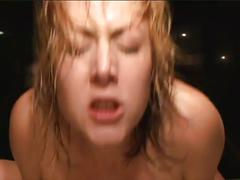 Big tits blonde fucks in the bath tub