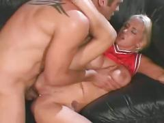 Horny blonde hottie gets fucked hard