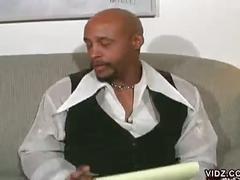 Ebony slut gets hairy pussy rammed
