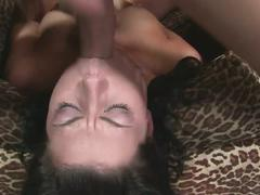 Jezebelle bond sucking hard cock and facefucked