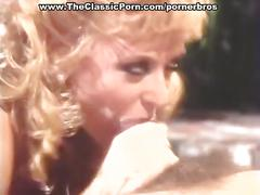 Vintage blonde babe gets hot pussy fucking