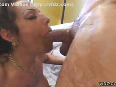 Big tit milf angelica lauren gives messy blowjob