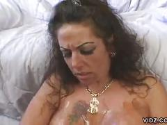 Big tit milf angelica lauren gives messy blowjob