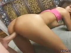 Exotic asian whore kammy gets dicked up her tight asshole