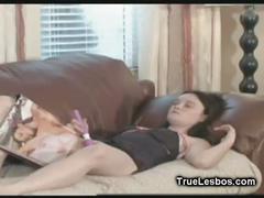 Lesbian teen gf toying pussy