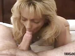 Hot amateur blonde milf gives sexy pov blowjob