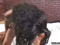 Filthy ebony stacey cash gets fucked by monster black cock