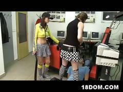 Hot teen babes femdom driving school