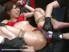 Asian bdsm pussy toying bondage