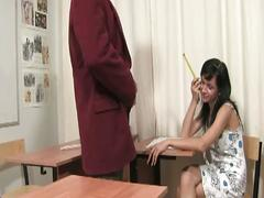 Teen slut gets fucked by teacher