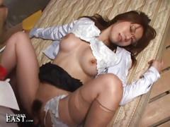 Japanese secretary hairy pussy pounding