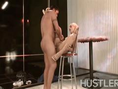 Blonde slut savannah sky ucked on the chair