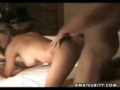 Busty amateur babe homemade anal with facial