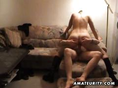 Young amateur couple homemade fuck with cumshot