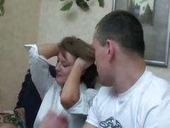 Sleeping drunk sexy milf getting banged by muscled young stud