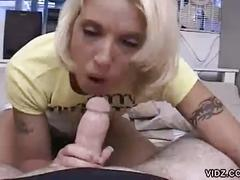 Young blonde with braces pov blowjob