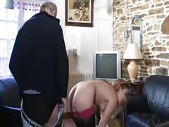 French slut a41 babe maid old man threesome