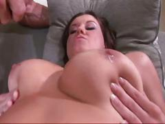 big tits, brunette, hardcore, outdoor, pussy, backyard, big natural tits, brown hair, busty, cowgirl, piledriver, spoon, trimmed pussy