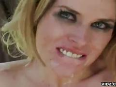 anal, blonde, cumshot, dp, interracial, daphne rosen, anal sex, assfucking, black on white, double penetration, facial, messy facial, platinum blonde