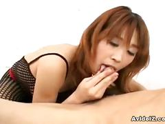 Busty japanese babe ai kurosawa rocks his cock