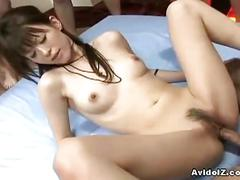 Hot japanese slut gets deeply fucked in all positions