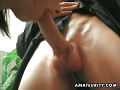 Hot threesome with facial cumshot