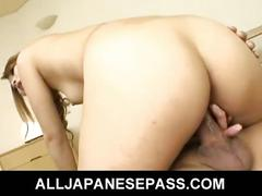 brunette, dp, hairy pussy, hardcore, milf, threesome, hibiki ohtsuki, brown hair, cowgirl, doggy style, double penetration, japanese, mmf, mom