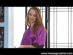 Kassius kay gives hot massage and blowjob