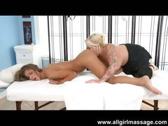 Hot and wet lesbian sexy massage!!