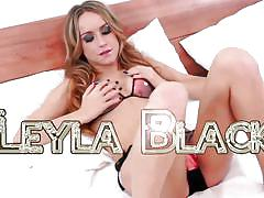 Leche 69 hot and hairy leyla black is so tight