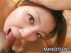 Teen japanese madoka kanbe sucking his man's dick before sex