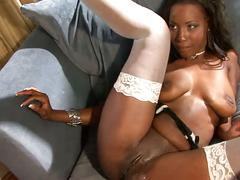 Hd hot ebony girl gets her pussy and her ass fucked