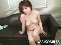 Japanese milf yuriko hoshino pleasured with toys and hard cock