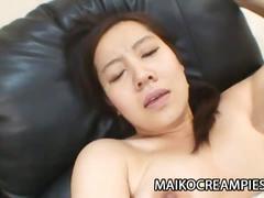 Horny japanese mikako imada gets her hairy pussy fucked hardcore