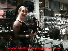 Public sissy bondage shopping humiliation femdom mistress