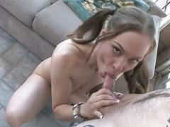 Kaylee love cox blowjob and facial