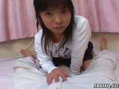 Young and shy japanese teen kozue matsushima gives nice pov blowjob