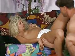 Chubby mature blonde poses and fucks at the photographer