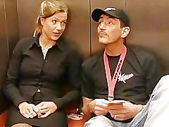 German couple stuck in lift